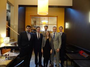 The EST delegation with EU-Correspondent Jelte Wiersma of Elsevier Magazine